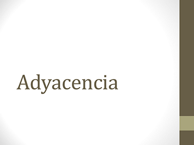 Adyacencia