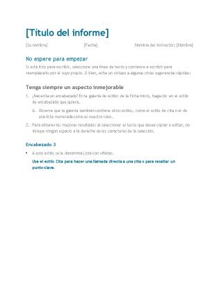 Informe de alumno