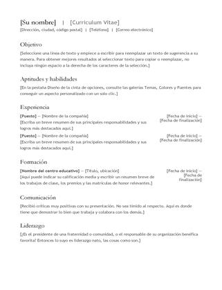 Currículum vítae (CV)