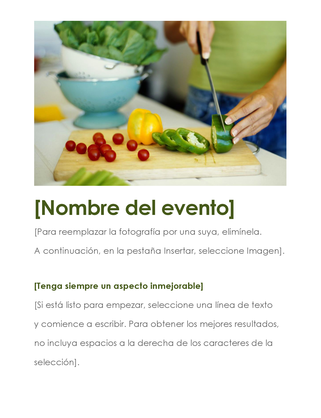 Folleto de eventos