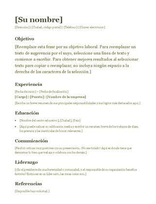 Currículum (verde)