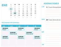 Calendario para estudiantes