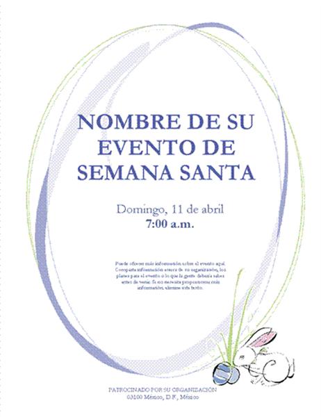 Prospecto para evento de Semana Santa (con conejito de Pascua)