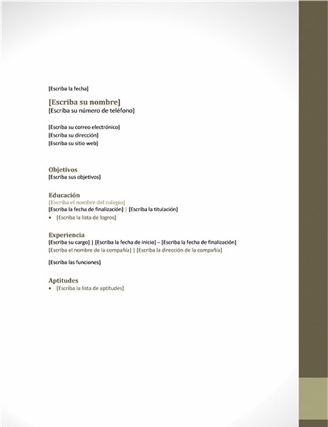 Currículum vitae (diseño de proximidad)