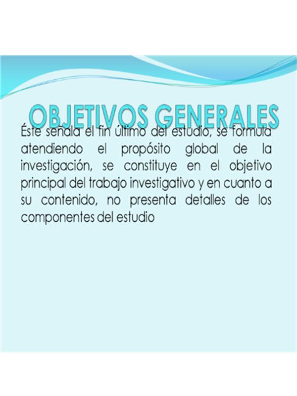 OBJETIVOS GENERALES 1