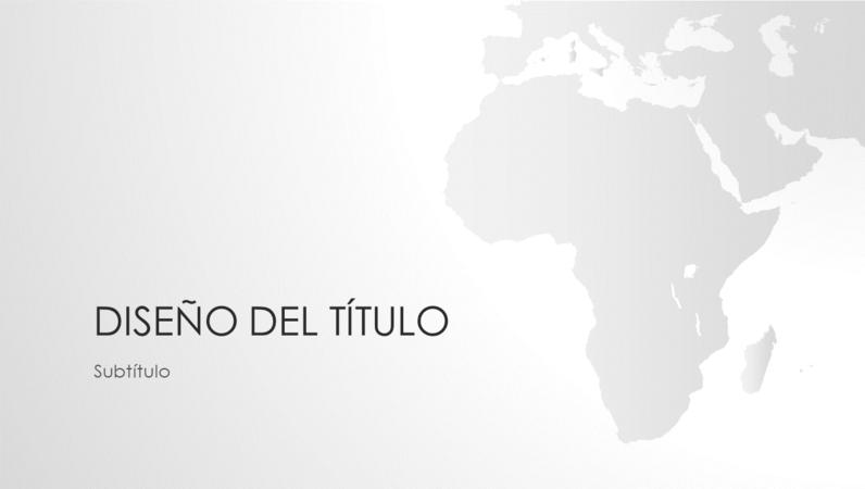 Serie de mapas del mundo, presentación del continente africano (pantalla panorámica)