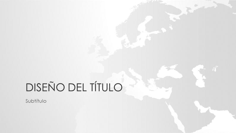 Serie de mapas del mundo, presentación del continente europeo (pantalla panorámica)