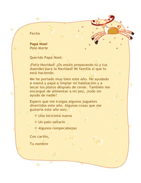 Carta a Papá Noel