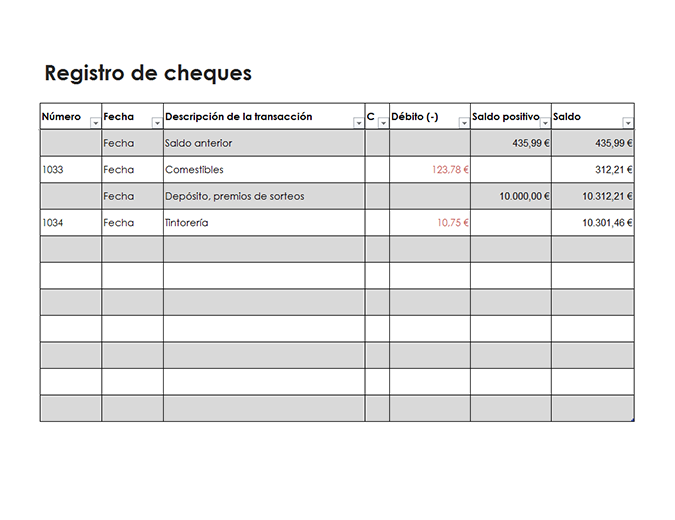Registro de cheques (simple)