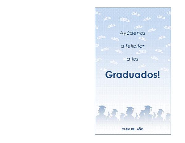Invitación a la fiesta de graduación (diseño Fiesta de graduación, tarjeta plegada)