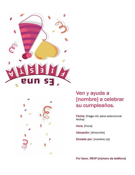Invitación a fiesta de cumpleaños