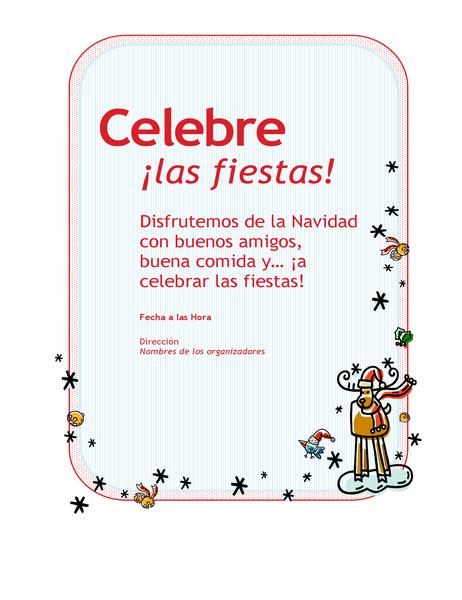 Invitación a la fiesta de Navidad de la empresa