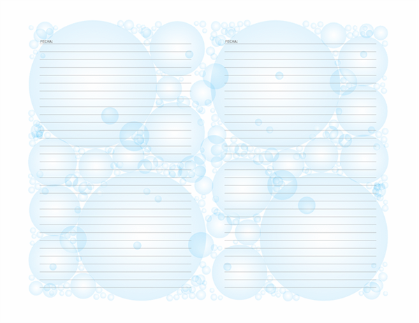 Páginas de Diario (diseño de burbujas; orientación apaisada)
