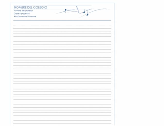 Papel reglado genérico (vertical, 8 pp.)