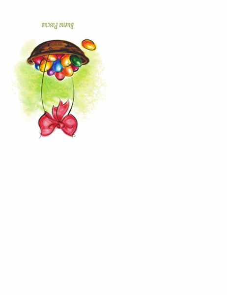Tarjeta de Pascua (con cesta de huevos)