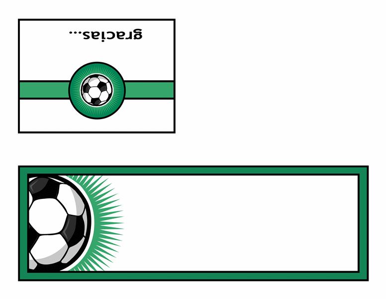 Tarjeta de agradecimiento (con balón de fútbol)