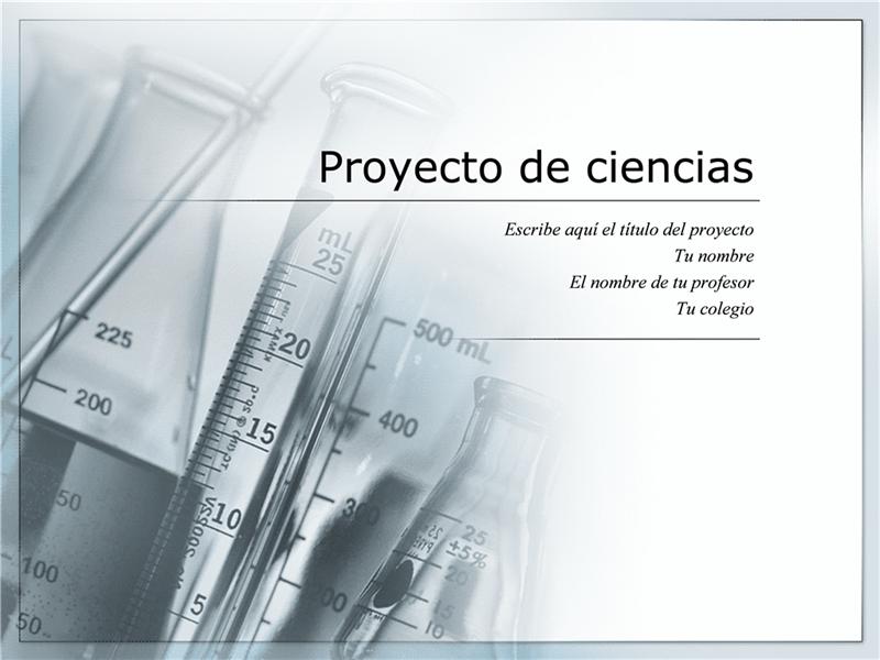 Presentación para un proyecto de ciencias