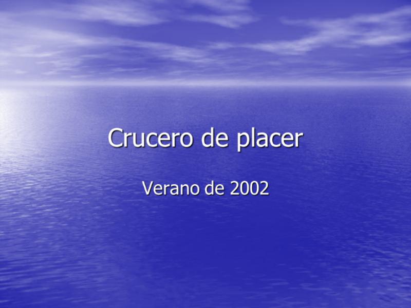 Presentación de diapositivas de crucero de vacaciones