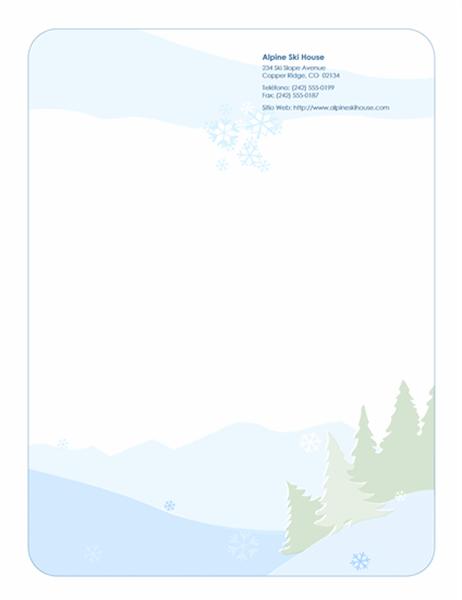 Papel de carta de Navidad (con escenas de invierno)