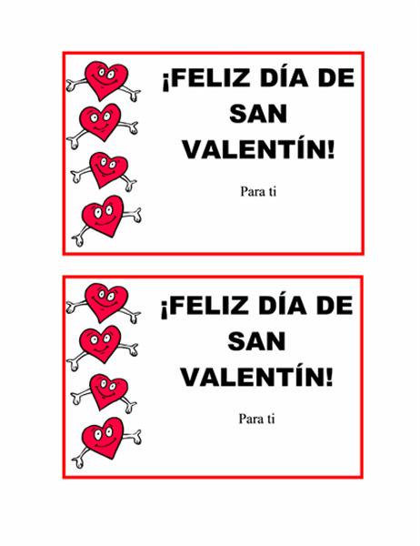 Tarjeta postal del día de San Valentín