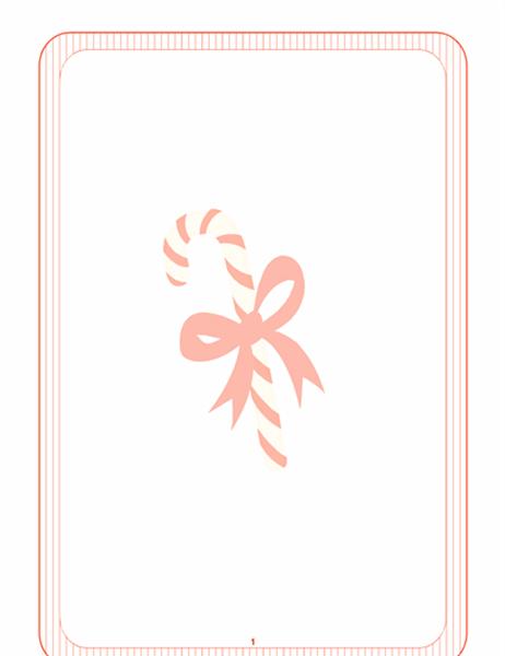 Diseño de fondo de Navidad (con marca de agua de bastón de caramelo)
