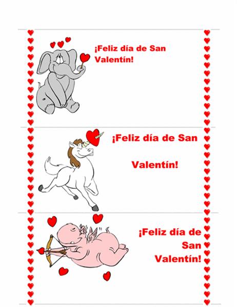 Tarjeta del día de San Valentín (3/pág.)