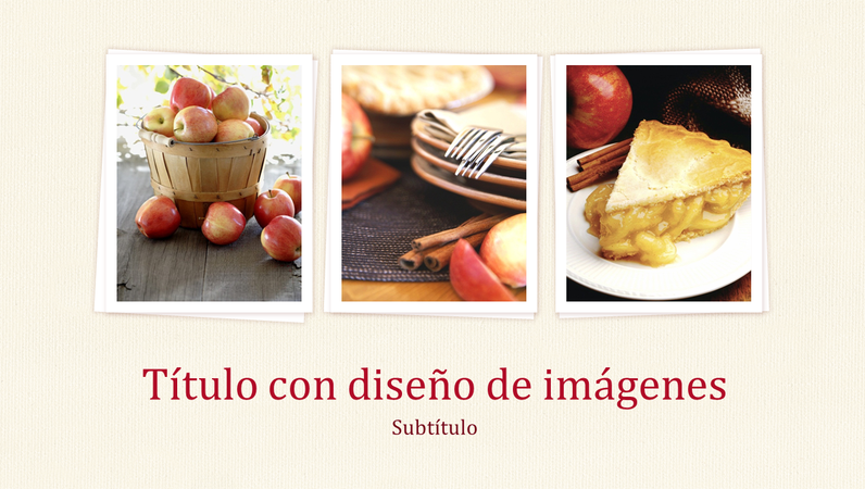 Presentación con diseño de libro de cocina (panorámica)