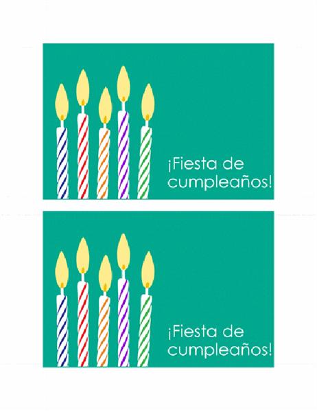 Invitación a cumpleaños