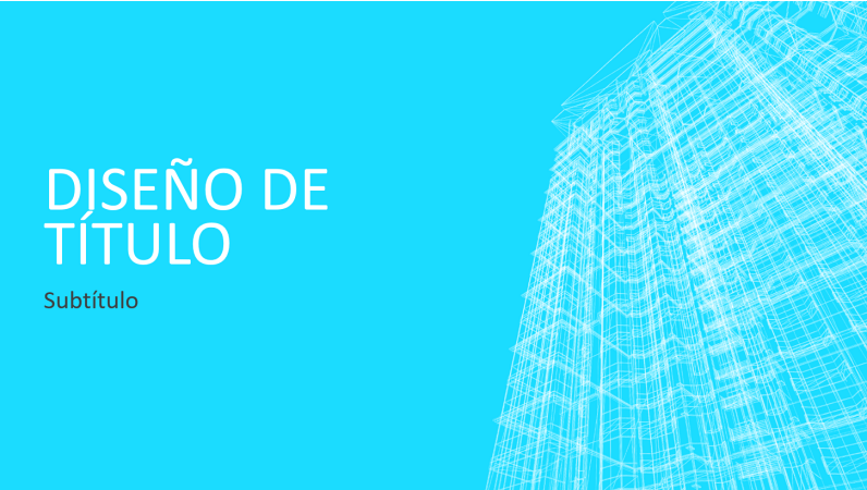 Presentación de edificio de contorno reticular empresarial (pantalla panorámica)