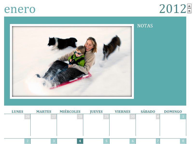 Calendario de fotos familiar