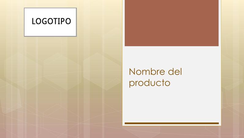 Presentación de información general sobre un producto empresarial