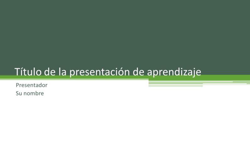 Presentación de aprendizaje
