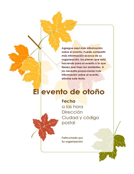 Folleto de evento de otoño (con hojas)