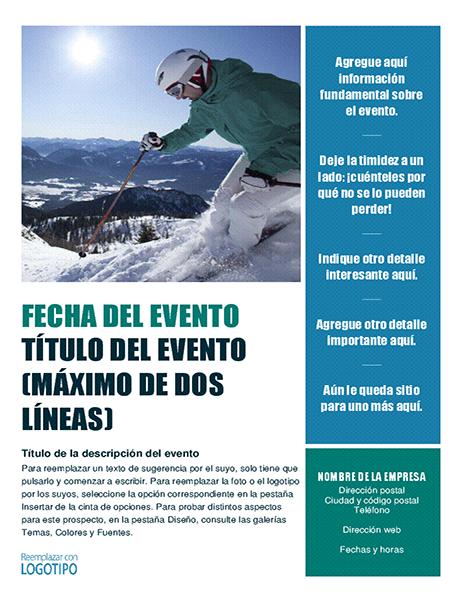 Prospecto de evento estacional (invierno)