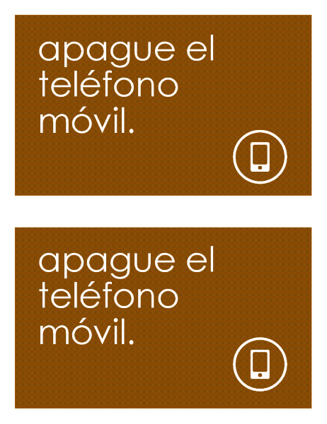 Cartel anti-teléfonos móviles (2 por página)