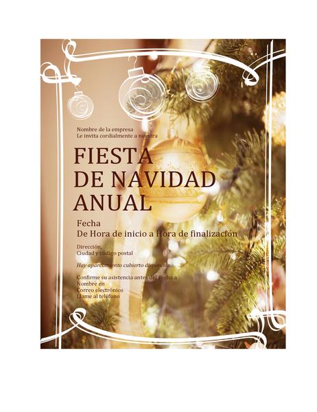Invitación A Una Fiesta De Navidad Para Eventos Empresariales