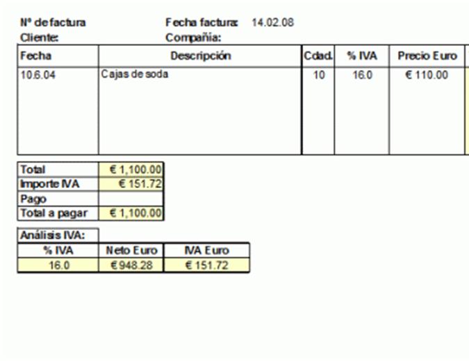 Factura (IVA incluido)