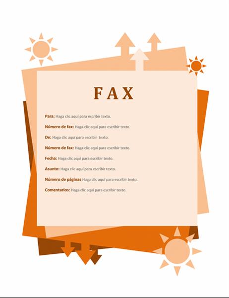 Portada de fax