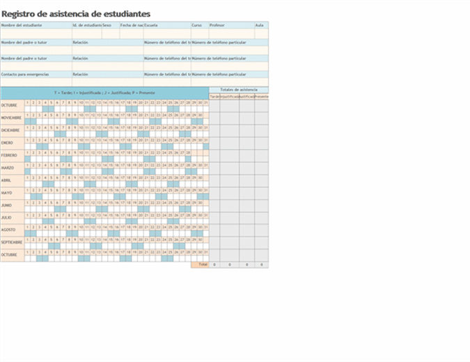 Registro de asistencia de alumnos 2008-2009