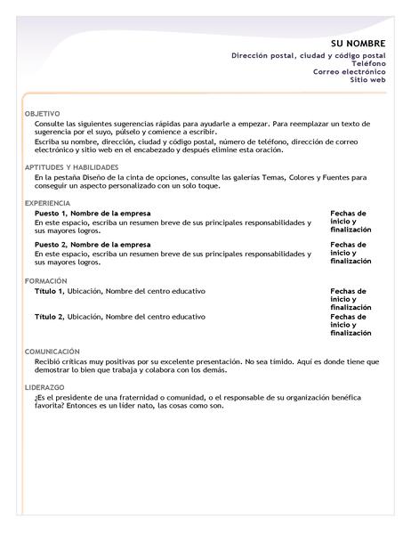 Currículum vítae básico