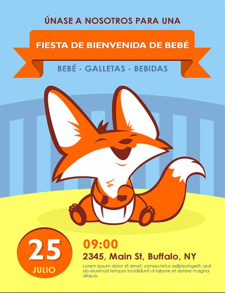 Octavilla de fiesta de bienvenida para bebé («sip and see»)