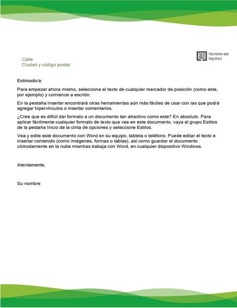 Membrete (diseño onda verde)