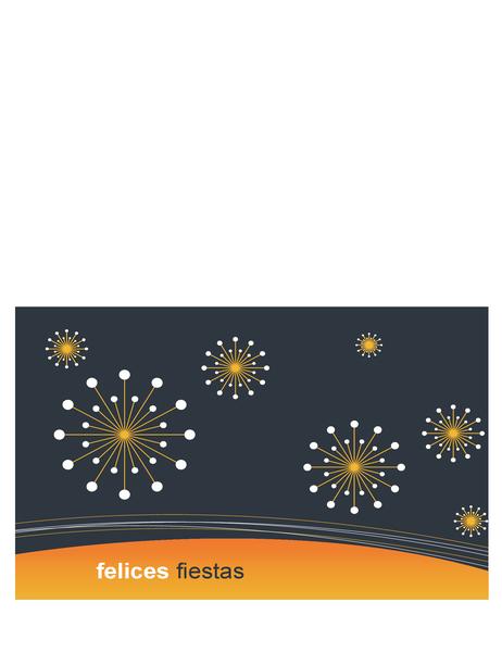 Tarjeta de felicitación de vacaciones para empresas de tecnología (pliegue en medio)