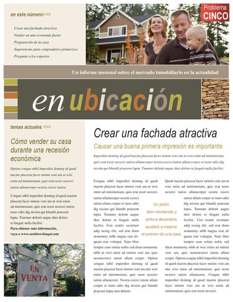 Boletín inmobiliario (4 páginas)