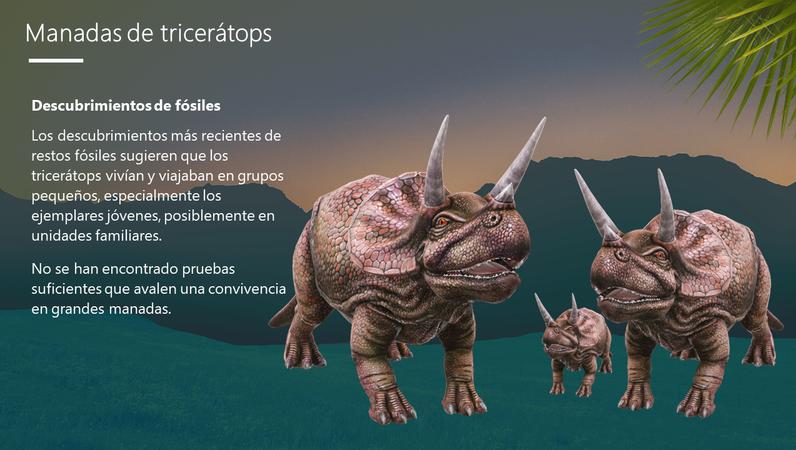 Tricerátops: dinosaurios de tres cuernos