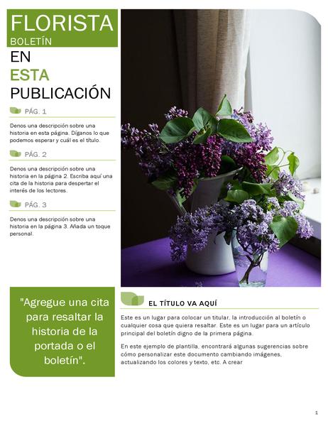 Boletín de florista