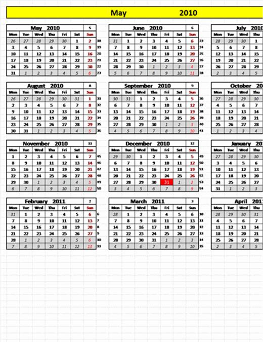 Calendario Perpetuo con fechas programables