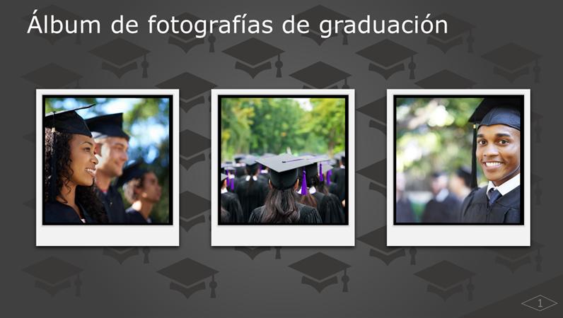 Álbum de fotografías de graduación