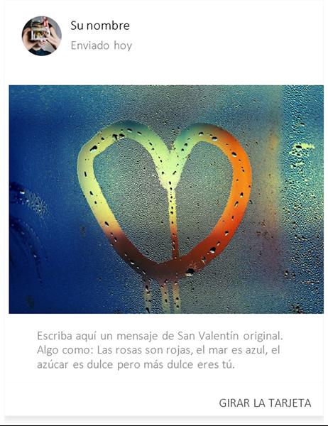 Un corazón en cristal empañado San Valentín