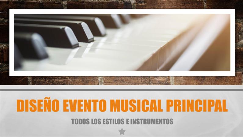 Diseño Evento musical principal